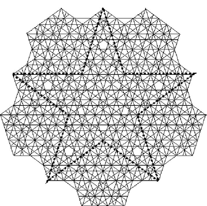 Раз построенная звезда дает рождение бесконечному числу таких же правильных звезд всевозможных размеров.