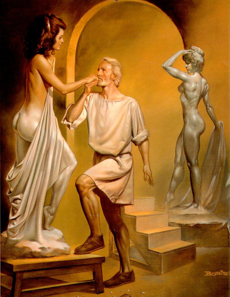 Назвав свое творение Галатеей, Пигмалион проводил дни и ночи напролет, восхищаясь красавицей из слоновой кости...