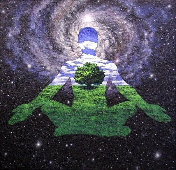 Именно через точку покоя внутри происходит внешнее творение.